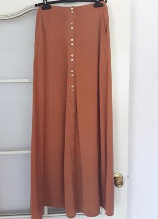 Шикарная легкая юбка в пол