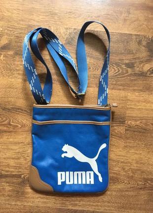 Puma сумка кожанная