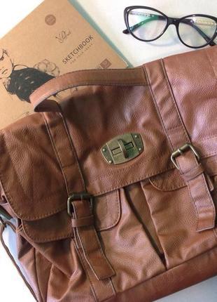 Рыжая сумка через плечо