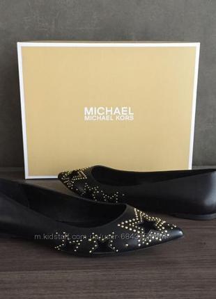 36-39 брендовые стильные туфли- балетки michael kors