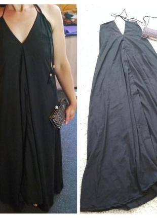 Шикарное стильное вечернее платье в пол,открытая спинка, boohoo, p. 10-14
