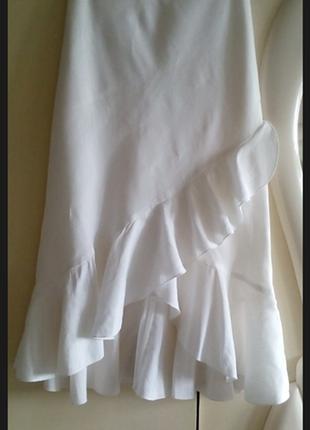 Льняная юбка миди с воланом юбка миди 100% лён