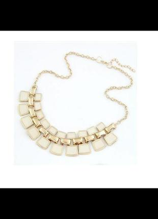 Красивое объемное колье ожерелье с эмалью подвеска