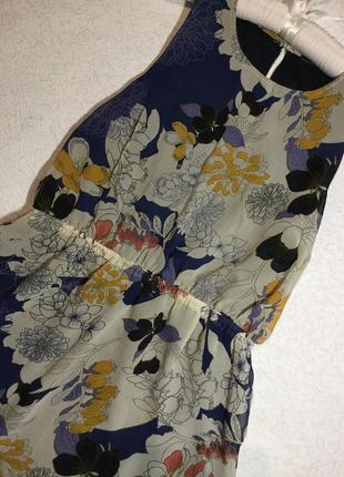Платье шифоновое в цветы с шлейфом atmosphere 12 размер
