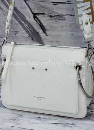 Клатч, сумка через плечо кросс-боди david jones 5104 белый