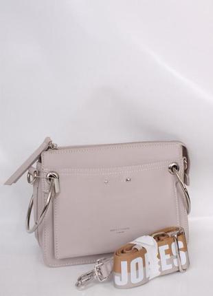 Клатч, сумка через плечо кросс-боди david jones 5104 серый