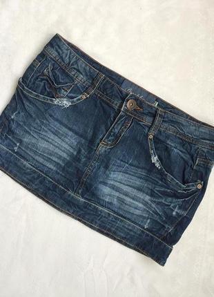 Юбка джинсовая мини раз m (46)