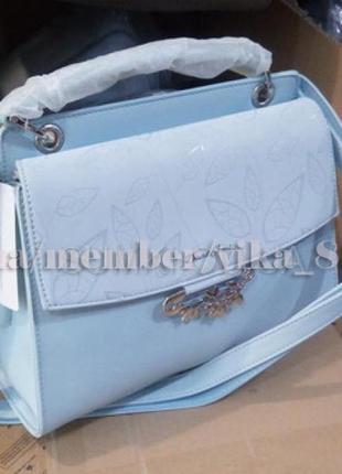 Клатч, сумка через плечо кросс-боди david jones 6001 голубая