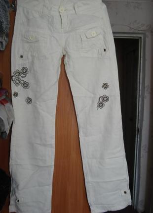 Льняные тонкие летние брюки, джинсы madoc р. 8-10