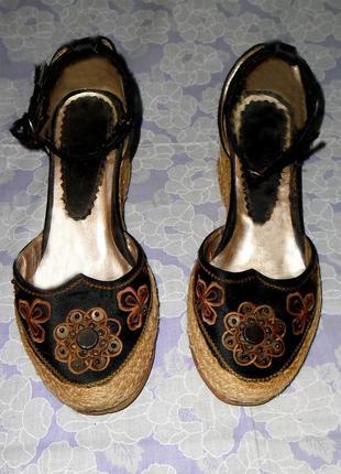 Туфли эспадрильи на платформе