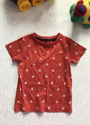 Next футболка на мальчика 9-12 мес , хватает до 2 -2,5 года