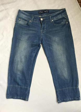 Супер бриджи жен джинсовые стреч m (46)