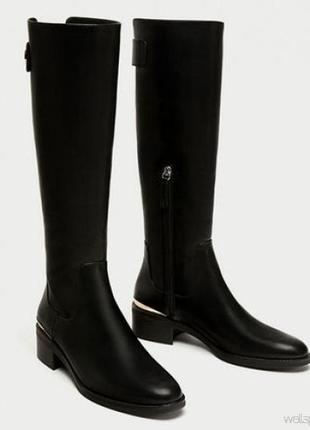 Сапоги /ботинки с пряжками  zara basic collection made in china