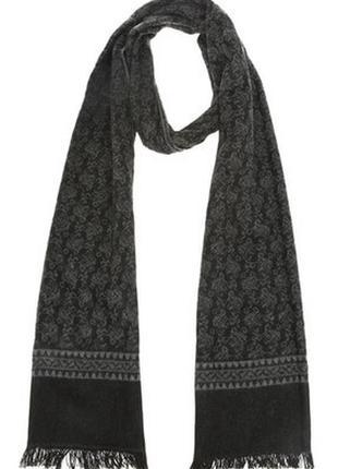 Стильный шарф мягкий уютный бафф мужской с эффектным узором оригинал