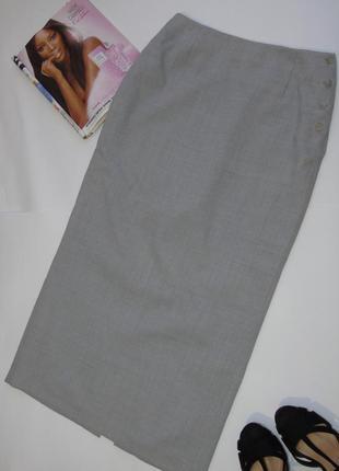 Прямая серая юбка