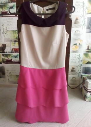Очень красивое яркое трехцветное платье kira plastinina
