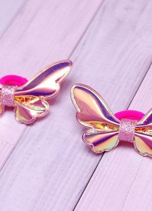 Модные блестящие бабочки из экокожи