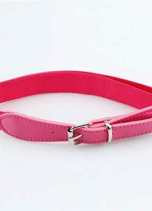 Розовый пояс ремень с резинкой