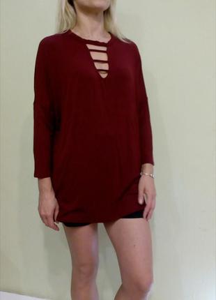 Трикотажная блуза, лонгслив