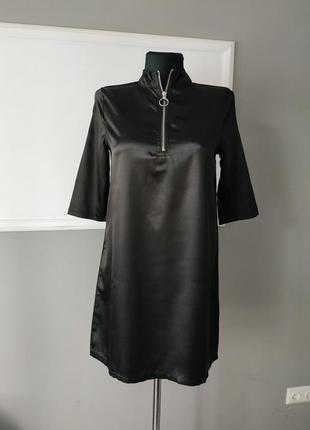 Чёрно платье boohoo