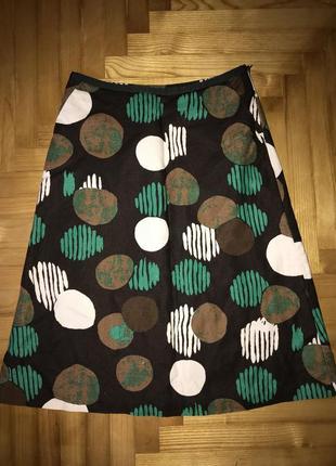 Стильная юбка в принт, лен/хлопок, laura ashley! p.-36