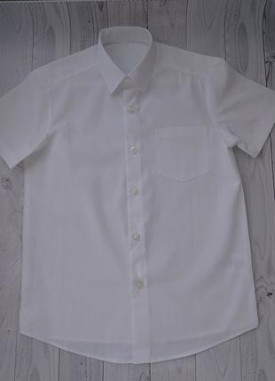 Белая рубашка slim fit george с коротким рукавом для мальчика