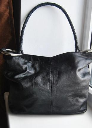 Кожаная сумка хобо  sequoia / шкіряна сумка