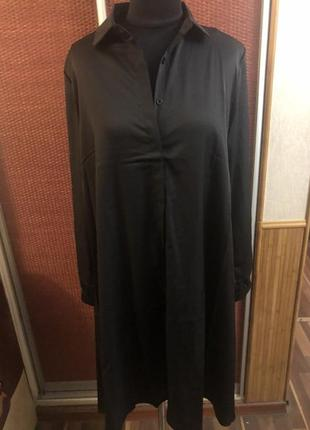 Классное платье рубашка свободного кроя