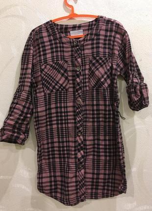 Рубашка блузка туника на 5 лет, хлопок