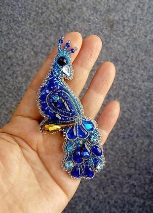 Сказочная брошь павлин символ вечной любви и красоты