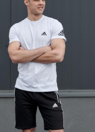 Мужской спортивный комплект (футболка + шорты) спортивный костюм