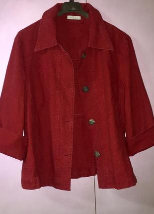 Лёгкий летний пиджак жакет из натуральной ткани бренд «vittoria verani».