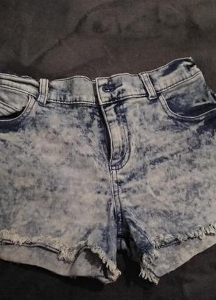 Продам джинсовые шорты с завышенной талией