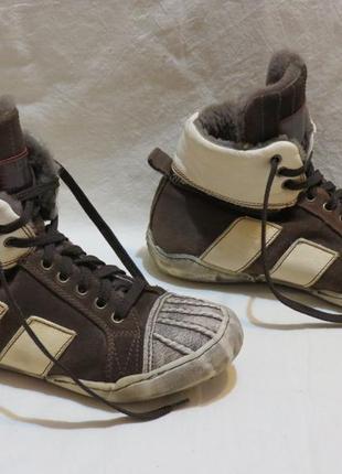 Кеды ботинки momino зимние размер 36 цегейка