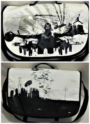 Сумка для ноутбука nike air jordan messenger bag на плечо