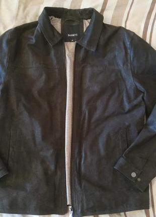 Фирменная утепленная кожаная куртка barneys, англия, оригинал!