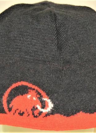 Шапка mammut трикотажная на флисе one size