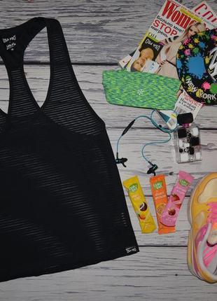 10/м женская фирменная спортивная майка usa pro boyfriend полоска сетка