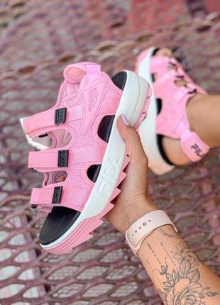 Шикарные топовые женские босоножки fila sandal pink 😍 (сандалии)