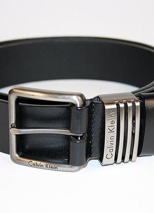 Ремень мужской кожаный - calvin klein
