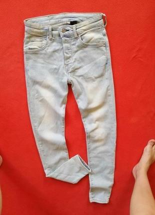 Стильные мужские джинсы скинни h&m 27/30 в прекрасном состоянии