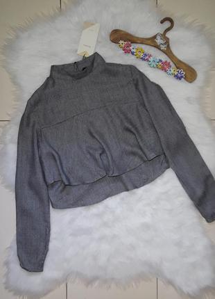 Укороченая блуза топ bershka