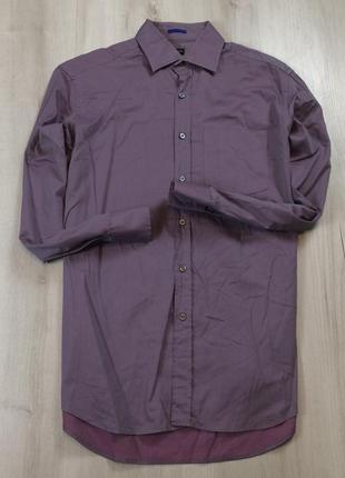 Приталенная рубашка paul smith xl мужская хл пул смич пол смит легкая фиолетовая