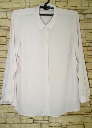 Пудровая блуза большого размера в состоянии новой