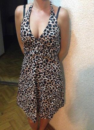 Леопардовое платье h&m
