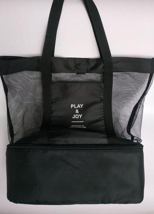 Шок 2в1 пляжная сумочка + термосумка холодильник