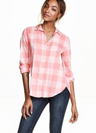 H&m хлопковая рубашка , s/m