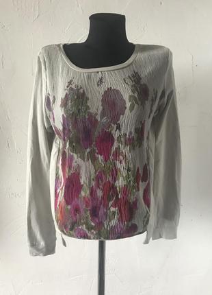 Свитшот caliope с цветочным принтом спереди! кофта, худи, блуза