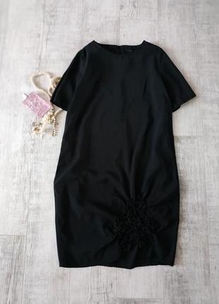 Черное свободное платье кокон от cos-оригинал 100%