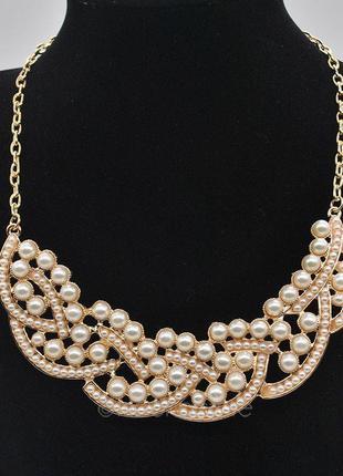 34 ожерелье pearl plait бижутерия